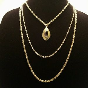 Vintage Gold Plated Necklace